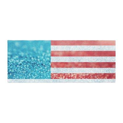 Beth Engel Glitter Flag Bed Runner