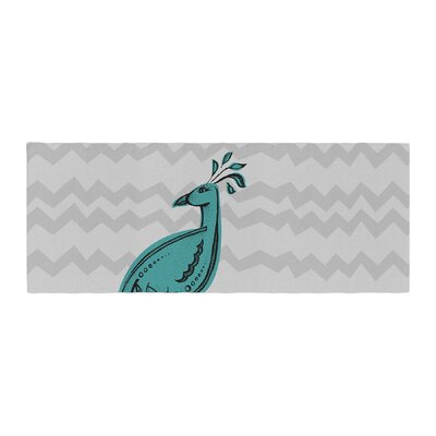Brienne Jepkema Peacock Bed Runner Color: Blue