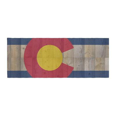 Bruce Stanfield Flag of Colorado Bed Runner