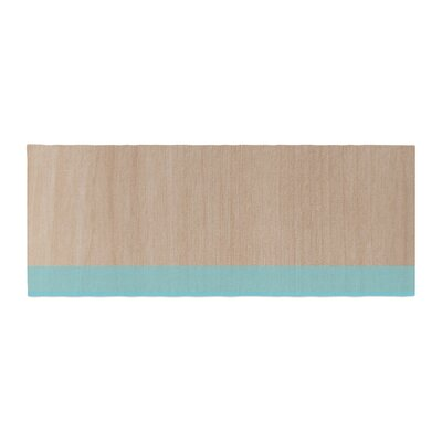 Brittany Guarino Art Wood Bed Runner Color: Blue
