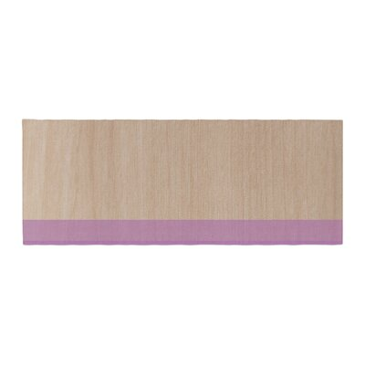 Brittany Guarino Art Wood Bed Runner Color: Purple
