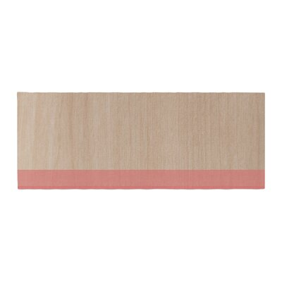 Brittany Guarino Art Wood Bed Runner Color: Red