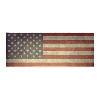 Bruce Stanfield Flag of US Retro Rustic Bed Runner