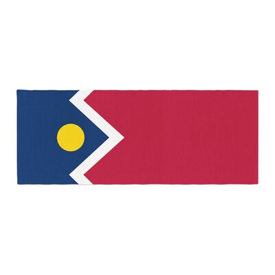 Bruce Stanfield Denver Colorado City Flag Vector Geometric Bed Runner