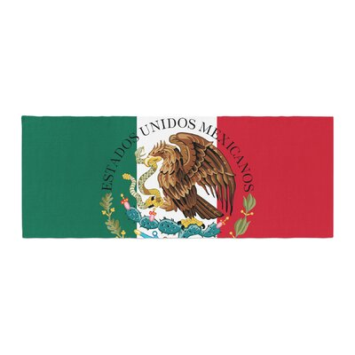 Bruce Stanfield Mexico Flag and Coat of Arms Bed Runner