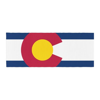 Bruce Stanfield Flag of Colorado II Bed Runner