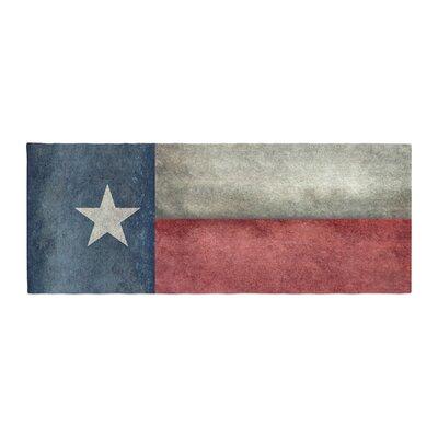 Bruce Stanfield Texas State Flag Vintage Digital Bed Runner