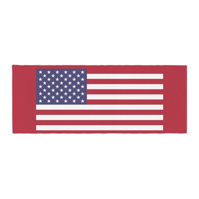 Bruce Stanfield Flag of USA Contemporary Digital Bed Runner
