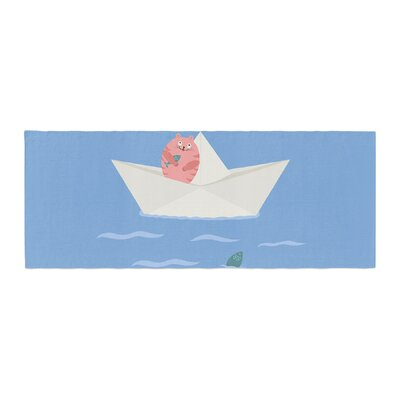 Cristina Bianco Design Cat and Paper Boat Bed Runner