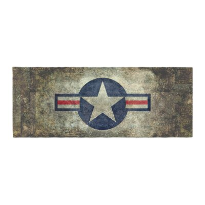 Bruce Stanfield USAF Vintage Retro Style Round Vintage Digital Bed Runner