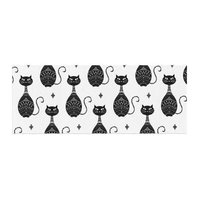 Cristina bianco Design Cats Pattern Bed Runner