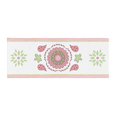 Cristina Bianco Design Rose and Mandala Design Painting Bed Runner