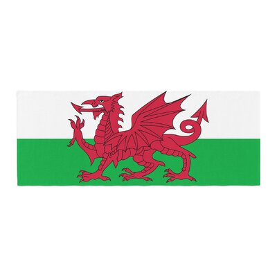 Bruce Stanfield Flag of Wales - Authentic Fantasy Illustration Bed Runner