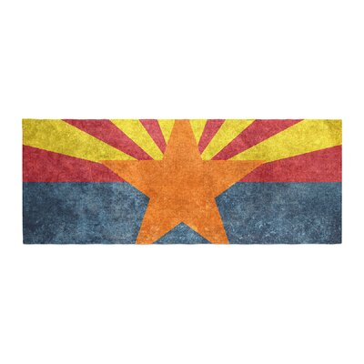 Bruce Stanfield Arizona State Flag Retro Style Bed Runner