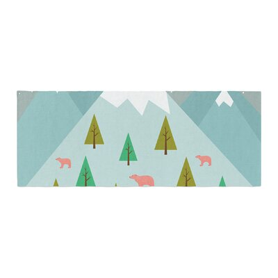 Cristina bianco Design Bears Illustration Nature Bed Runner