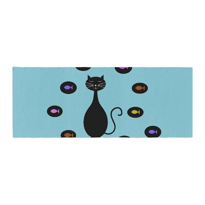 Cristina bianco Design Cat and Fish Bed Runner