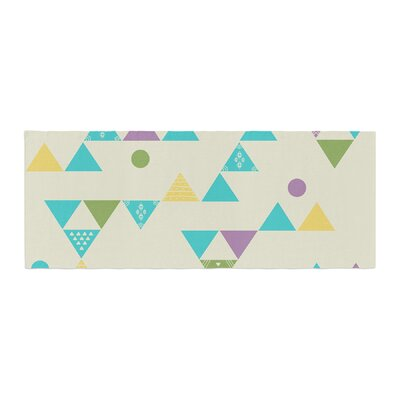 Cristina Bianco Design Colorful Triangles Illustration Bed Runner