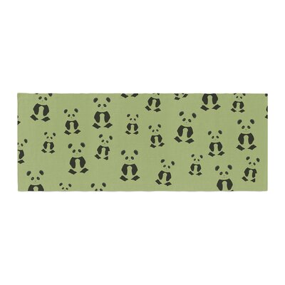 Cristina Bianco Design Panda Pattern Illustration Bed Runner