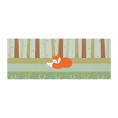 Cristina bianco Design Sleeping Fox Illustration Bed Runner