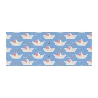 Cristina bianco Design Paper Cat Pattern Bed Runner