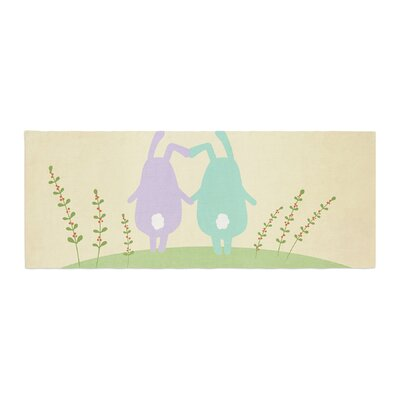 Cristina bianco Design Cute Bunnies Animals Bed Runner