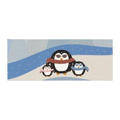 Cristina bianco Design Cute Penguins Illustration Bed Runner