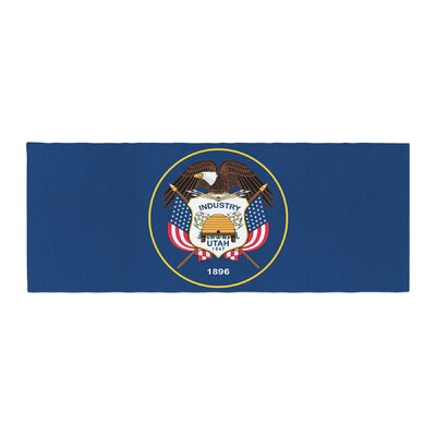 Bruce Stanfield Utah State Flag Authentic Bed Runner