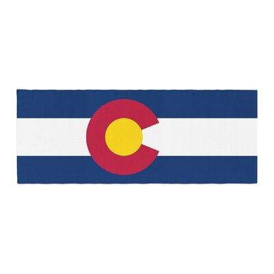 Bruce Stanfield Colorado State Flag Bed Runner
