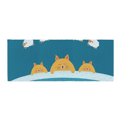 Cristina bianco Design Sleeping Cats Zzzz Animals Bed Runner