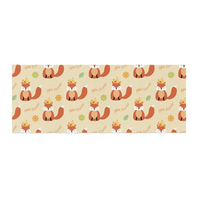 Cristina Bianco Design Fox - New Friends - Pattern Illustration Bed Runner