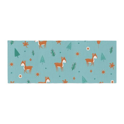 Cristina bianco Design Cute Deer Pattern Kids Bed Runner