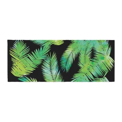 Draper Tropic Digital Bed Runner Color: Green/Black