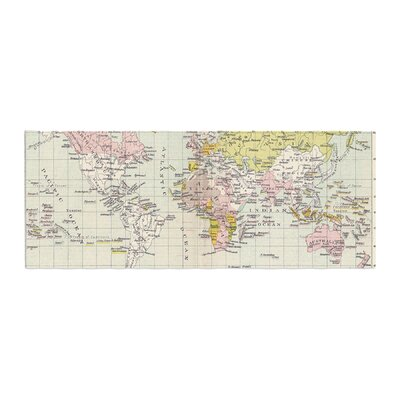Catherine Holcombe Travel World Map Bed Runner