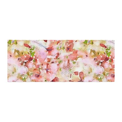 Carolyn Greifeld Floral Fantasy Abstract Bed Runner Color: Pink