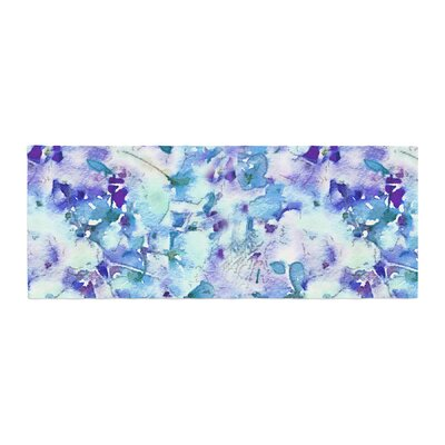 Carolyn Greifeld Floral Fantasy Abstract Bed Runner Color: Blue