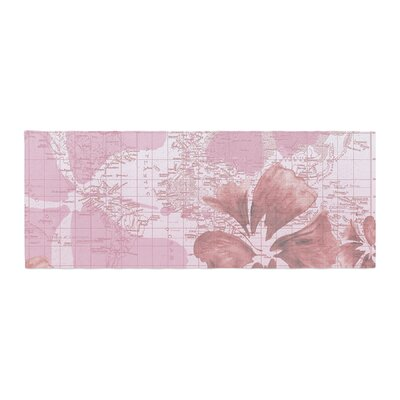 Catherine Holcombe Flower Power Map Bed Runner Color: Pink