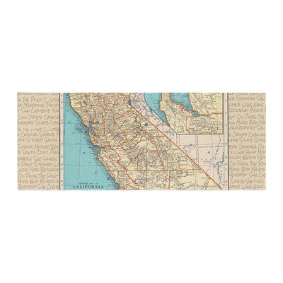 Catherine Holcombe So Cal Surf Map Bed Runner
