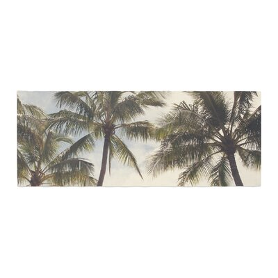 Catherine McDonald Boho Palms Coastal Trees Bed Runner