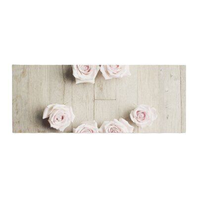Cristina Mitchell Smile Wood Roses Bed Runner