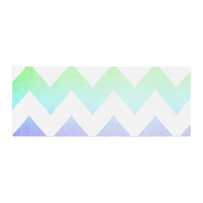 Catherine McDonald Water Color Chevron Bed Runner