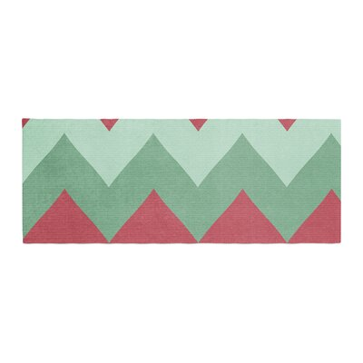 Catherine McDonald Holiday Chevrons Bed Runner