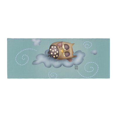 Carina Povarchik Sleepy Guardian Owl Bed Runner