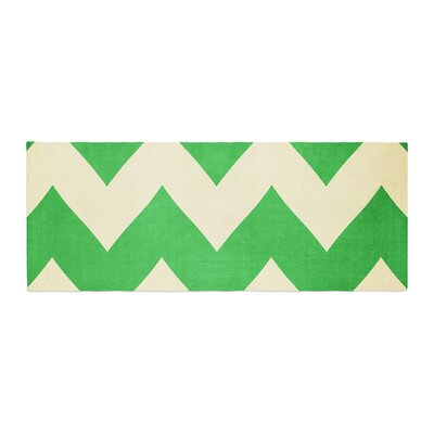 Catherine McDonald Granny Smith Chevron Bed Runner