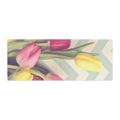 Catherine McDonald Tulips and Chevrons Bed Runner
