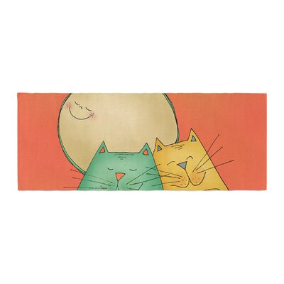 Carina Povarchik 2 Gatos Romance Love Cats Bed Runner