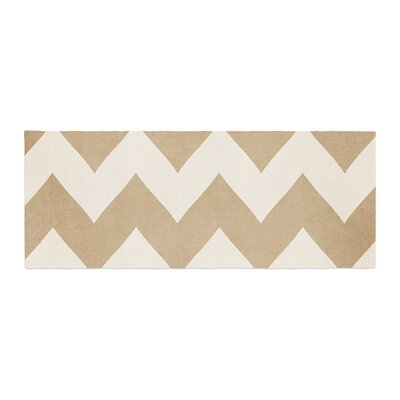 Catherine McDonald Biscotti Chevron Bed Runner