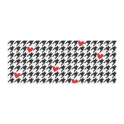 Empire Ruhl Spacey Houndstooth Heart Bed Runner