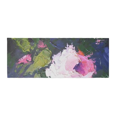 Carol Schiff Textured Rose Painting Bed Runner