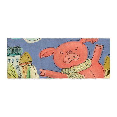 Carina Povarchik Happy Urban Pig Bed Runner