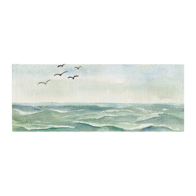 Cyndi Steen Flock Flying Low Coastal Bed Runner